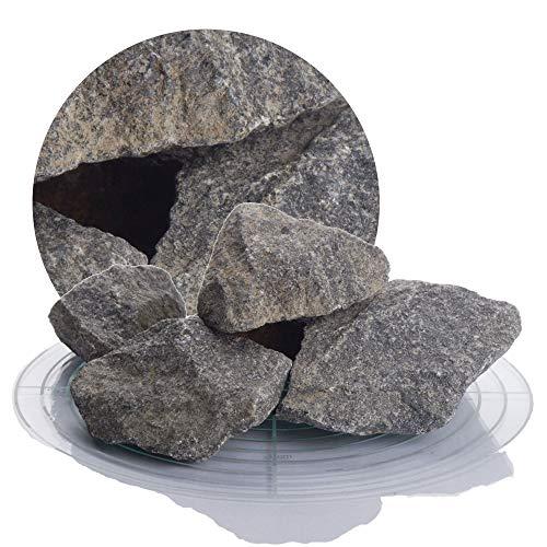 Original finnische Saunasteine 21 kg aus Olivin-Diabas 5-8 cm, hochwertige Aufgusssteine für den Saunaofen (5-8 cm)