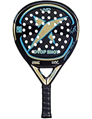 DROP SHOT Wizard Gold - Pala de pádel, Color Negro/Dorado / Azul,