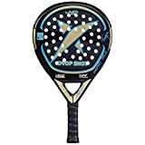 DROP SHOT Wizard Gold - Pala de pádel, Color Negro/Dorado / Azul, 38 mm