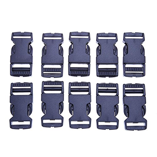 10 plastic buckles with safety lock for pets, rope closure for umbrella