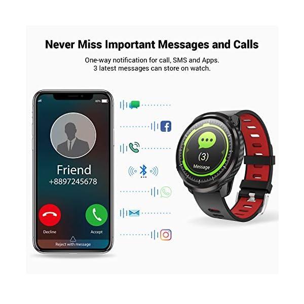 CatShin Smart Watch Tracker de Actividad, Pantalla táctil smartwatch Fitness Tracker, Reloj Deportivo Bluetooth IP67 a Prueba de Agua con Monitor de frecuencia cardíaca, Compatible con Android iOS 5