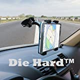 #7: Die Hard Car Tablet Mount Holder, Windshield/Dashboard Universal Car Tablet Mobile Phone/Device Cradle for iOS/Android Tablet, iPad, Smartphone Tab Holder for 7 to 10 inch Kindle/iPad/Tablets (Black)