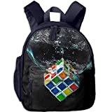TTmom Zaini/Zaino Casual,Borse a Zainetto, Sexy Lovely Handsome Water Digital Art Rubiks Cube Wallpapers Printed Kids School Backpack Cool Children Bookbag -
