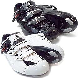 VeloChampion Zapatillas de ciclismo Elite Road (par) Cycling Road Shoes Black/Silver 43