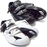 VeloChampion Elite Rennradschuh (Paar) Black/Silver 44 Road Cycling Shoes