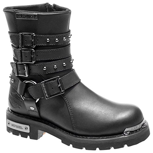 Harley Davidson Womens Eddington Black Leather Boots 39 EU