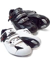 VeloChampion Zapatillas de ciclismo Elite Road (par) Cycling Road Shoes White/Black 43