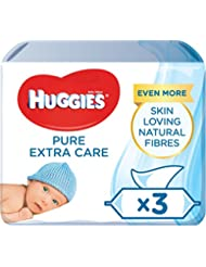 Huggies Pure Extra Care 3*Baby Wipes.
