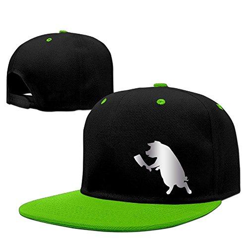 Hittings PIG WITH BUTCHER KNIFE Stic Platinum Style Baseball Snapback Cap Red KellyGreen par  Hittings