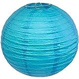"""Conjunto de 2ronda linterna de papel Decoración de la boda 8""""/20cm (azul)"""