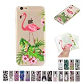 V-Ted Coque Apple iPhone 7 Plus 8 Plus Flamant Rose Fleur Silicone Ultra Fine Mince...