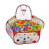 Mindruer Laufgitter Zelt Ball Pool mit Basketballkorb Aufbewahrungstasche Indoor Outdoor für Kinder