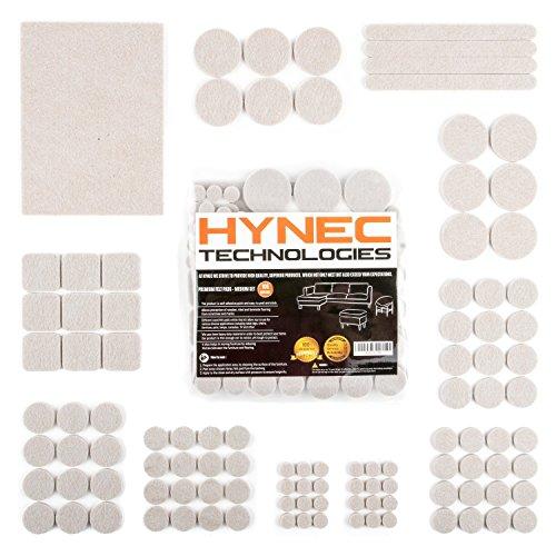 Fieltro adhesivo, protector de goma para patas de mesa y muebles, HynecTechnologies, 7 tamaños diferentes, protector patas sillas, almohadillas para muebles y sillas