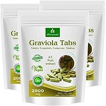 Graviola compresse 360 x 2000mg estratto di frutta 4:1 vegano, prodotto di qualità da MoriVeda (3x120 Tabs)