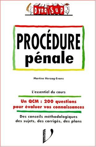 La procédure pénale par Herzog