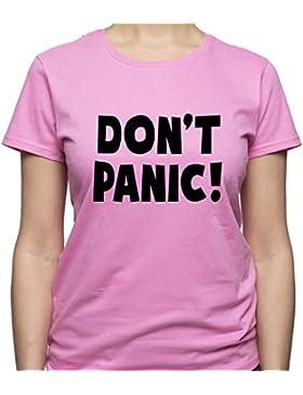 EUGINE DREAM Don'T Panic Shirt Keep Calm Tshirt Panic T Shirt Funny Hipster Camiseta Para Mujer