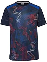 Head Racquet Camiseta, Hombre, Dark Blue/Red, Large