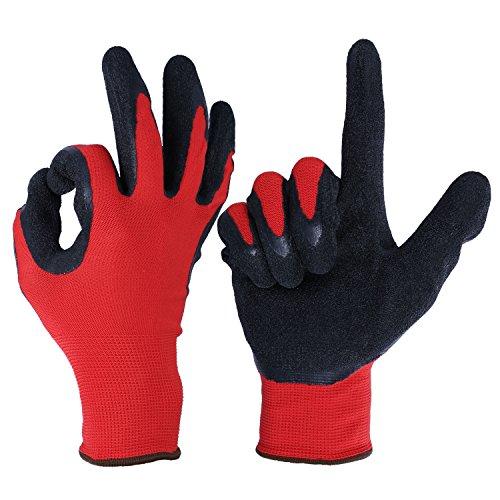 garden-gloves-ozero-nitrile-work-glove-with-nylon-shell-for-farming-warehouse-repairment-snug-fit-ul