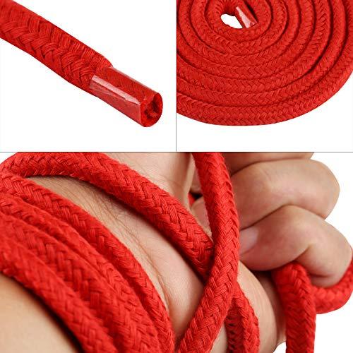 LIHAO 2x 10m Bondageseil Bondage Seile Fesselseil BDSM Schwarz Rot - 3