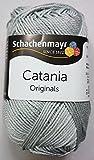 Schachenmayr Catania Strickgarn 50 Gramm Uni (Silber Grau (172))