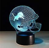 Illusion Lampe USB des Fußballsturzhelm-3D führte