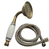 Testa Doccia a mano Tradizionale Telefono in Ottone con tubo 1.5m (Antico)