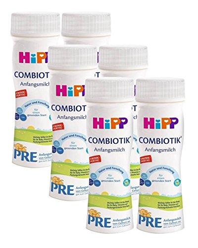 Hipp Combiotik PRE trinkfertige Milch, 200ml, 6er-Pack (6 x 200ml, Gesamtvolumen 1,2 Liter)…