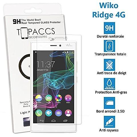 Wiko Ridge 4G - Véritable vitre de protection écran en Verre trempé ultra résistante - Protection écranv