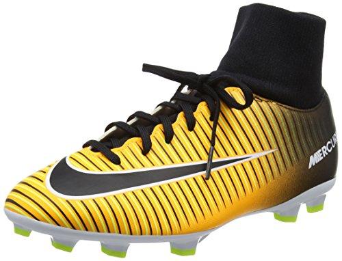 Nike Fußballschuhe Fußball (Nike Jungen Mercurial Victory VI Dynamic Fit (FG) Fußballschuhe, Orange (Laser Orange/Black-White-Volt), 38.5 EU)