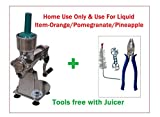 Heavy Duty Pure Aluminum Manual Model Size 20 No Citrus Hand Juicer With Aluminum Stand For Home Use Only