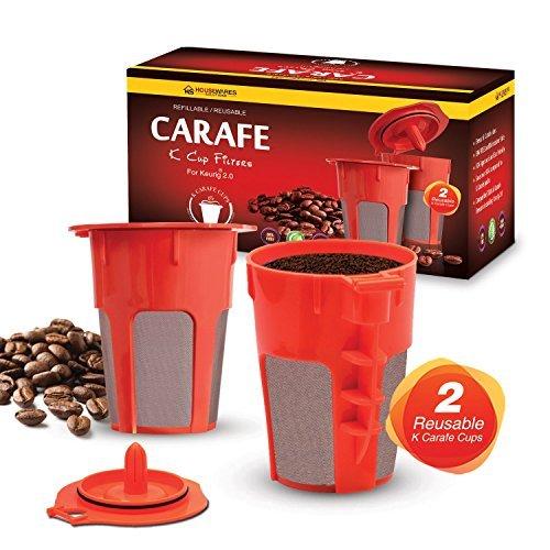 2nachfüllbar/wiederverwendbar Karaffe kcup Filter von Housewares Lösungen für Keurig 2.0: K200, K300, K400, K500Series des aufbrühens Maschinen - Filter Keurig Karaffe
