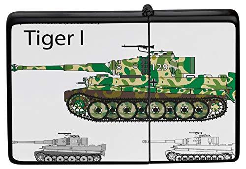 LEotiE SINCE 2004 Feuerzeug Benzin Sturmfeuerzeug Bedruckt Panzer Tiger I