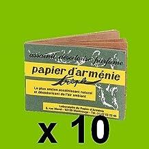 LOT 10 CARNETS VERITABLE PAPIER D'ARMENIE DESODORISANT NATUREL