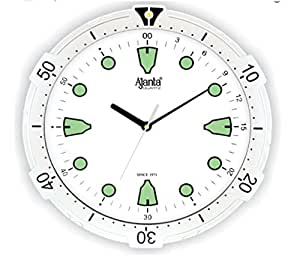 Ajanta Quartz Wall Clock with Round Dail Shape 2367 White For Office and Home