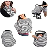 Baby Nursing Breastfeeding Cover- Multi Use, Flexible, Unisex, Super Soft, 100% Organic Cotton- Can Also Be Used As Car Seat Canopy, Shopping Cart, High Chair, Stroller, Infinity Scarf, Shawl And Carseat Covers