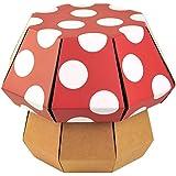 Funny Tabouret en forme de champignon pour enfant, rouge et pois blanc
