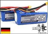 2 x Turnigy LiPo-Pack | 3S 11,1V | 2200mAh 20-30C | **** 2x Top Seller Akkus jetzt aus BRD | molinoRC®