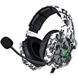 Gaming headphone Call of duty design ONIKUMA K8 Over-ear Headset with Microphone Volume Control Headphones RGB LED Lights, Wh