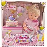 Dimian BD342 - Baby set Nena feliz cumpleaños con accesorios, 42 cm