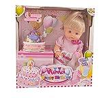 Dimian BD342 - Baby Nena Happy Birthday Set mit Zubehör, 42 cm