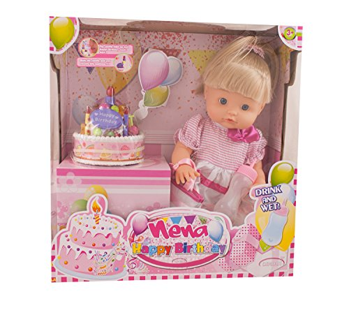 Preisvergleich Produktbild Dimian BD342 - Baby Nena Happy Birthday Set mit Zubehör, 42 cm