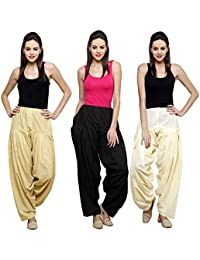 Mango People Products Combo Skin,Black, Off White 3 Colours Womens & Girls Solid Cotton Mix Best Indian Ethnic...