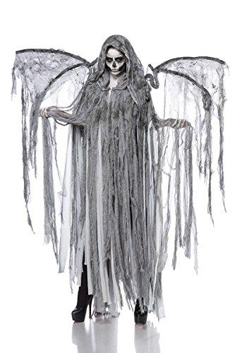 Angel Hot Kostüm - Horror Halloween Halloweenkostüm Damen Engel Tod Skelett Skelettkostüm Geist Geisterkostüm Todkostüm Grusel