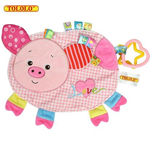 Baby Kleinkindspielzeug Handmade Beruhigend Stoffspielzeug Hübsch Weich Plüsch Tiere Badespielzeug,Ferkel