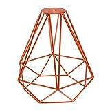 MagiDeal Vintage Metall Diamant Form Anhänger Deckenleuchte Lampe Käfig Lampenschirm Dekor - Orange