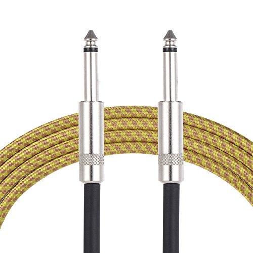 ammoon Instrument Cable Professionelle 6.35mm männlich bis 6.35mm gerade männliche Stereo Audio Kabel Draht (3m / 9.8ft) für elektrische Gitarre Studio Aufnahme Subwoofer Mixer Mixing Lautsprecher