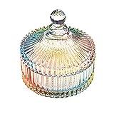 Danmu Art 1 Stück Colorful Kristall Bonbonglas mit Deckel/Candy Gläser/Vorratsglas /Glasbehälter Deko, 620ml