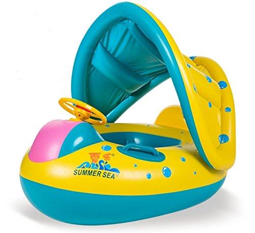 Qile Anillo Con Piscina del Barco Balsa Tubo del Flotador-Sentado, Niño del Bebé, Anillo Lindo Nadadores y Natación para Bebés, para 1-3 Años de Edad
