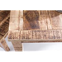 Rustica Mesa de Comedor 80x80x76cm Mango de Madera Cuadrado | Mesa de la Cocina rústica |