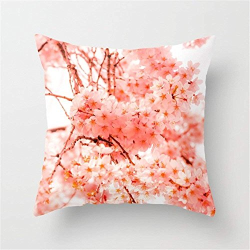 Cherry Blossoms Throw Pillow Cushion Cover for Couch Sofa Or Bed Set Cozy Home Decor Size:20 X 20 Inches/50cm x 50cm Cherry Pie Dress